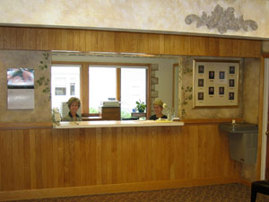 Reception Desk in Lansing dental office